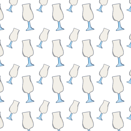 crystal cup object style background vector illustration