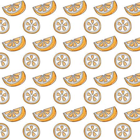 delicious slice orange organic fruit vector illustration