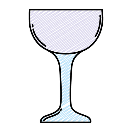 doodle crystal glass fragile object style vector illustration