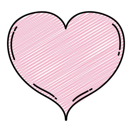 doodle beauty heart love symbol style vector illustration Illustration
