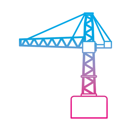 degraded line pulleys construction repair crane sign vector illustration