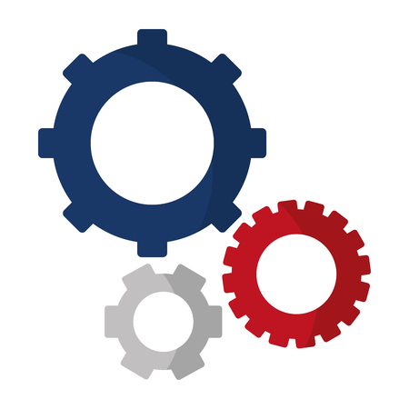 engineering gears machinery industry proccess vector illustration