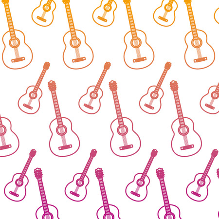 degraded line guitar music instrument style background vector illustration