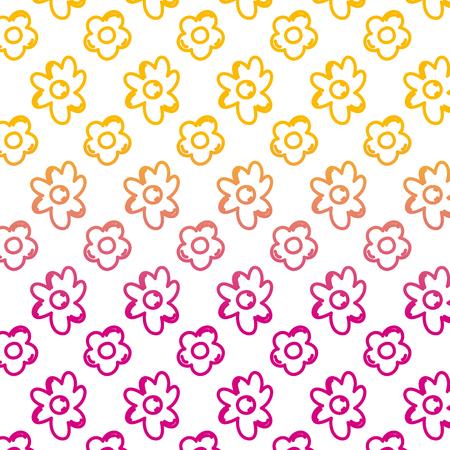 degraded line nice natural flower petals background vector illustration Illustration