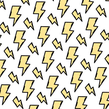 color hazard energy power caution background vector illustration