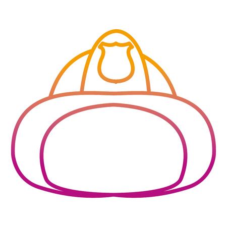 illustration vectorielle de protection d & # 39; urgence équipement de casque de pompier de ligne dégradée