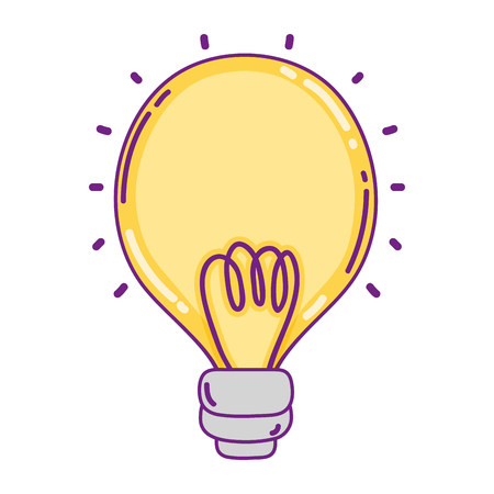 power bulb object with electric energy vector illustration