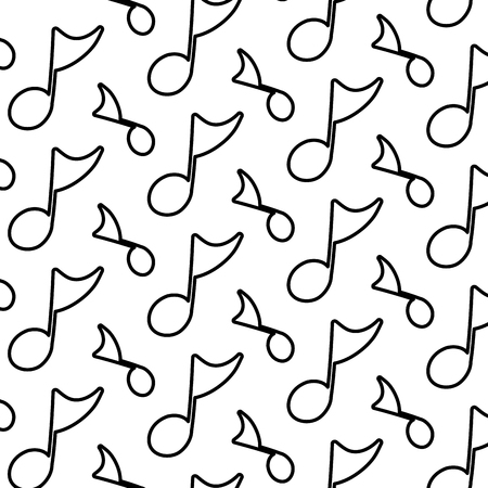 line musical quaver note sign background