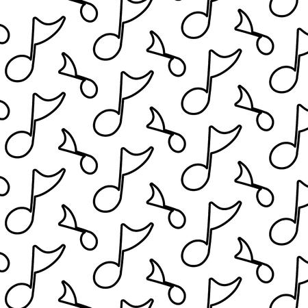 line musical quaver note sign background