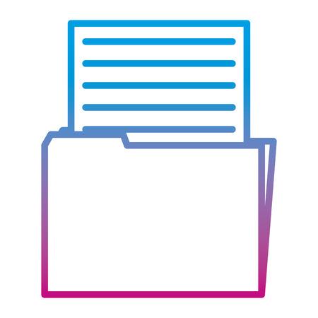 Fichier de dossier de bureau en ligne dégradé avec données de document