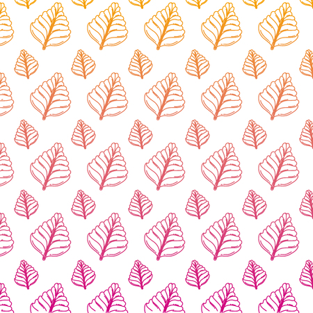 degraded line natural and tropical leaf style background vector illustration Illustration
