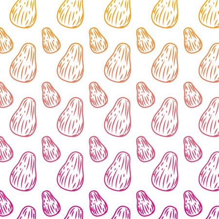 degraded line delicious avocado organic fruit background vector illustration Illustration