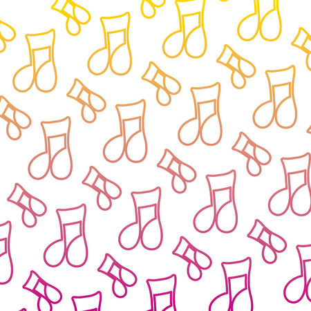 degraded line musical beam notes sign background