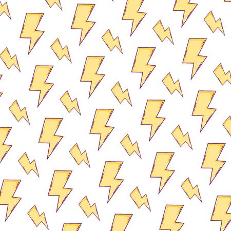 hazard energy power caution background vector illustration