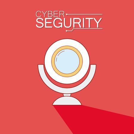 Webcam cyber security symbol vector illustration graphic design Vectores