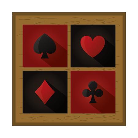 framework cards geme casino style vector illustration Ilustrace