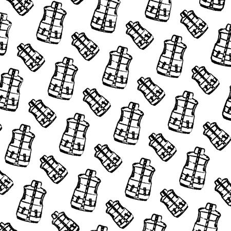 grunge fashion cold vest style background vector illustration