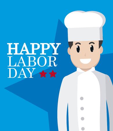 Happy labor day card Illustration