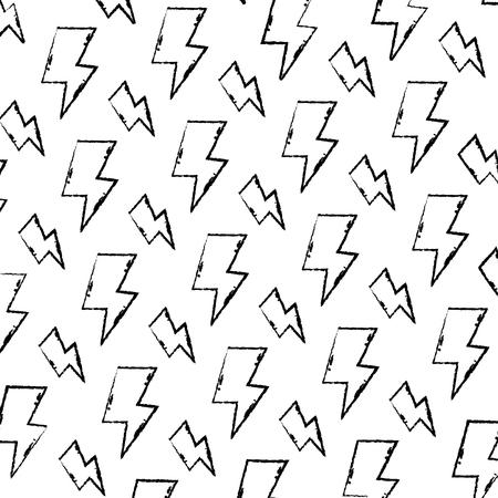 grunge hazard energy power caution background vector illustration Stock Illustratie