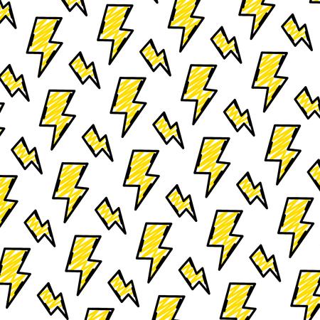 doodle hazard energy power caution background vector illustration Stock Illustratie
