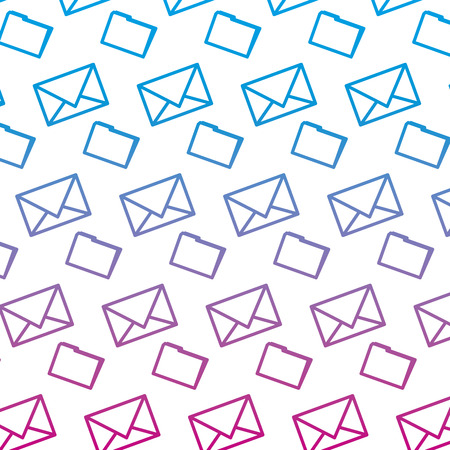 degraded line e-mail message letter text background vector illustration Illusztráció