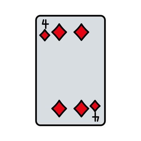 color four diamonds casino card game vector illustration  イラスト・ベクター素材