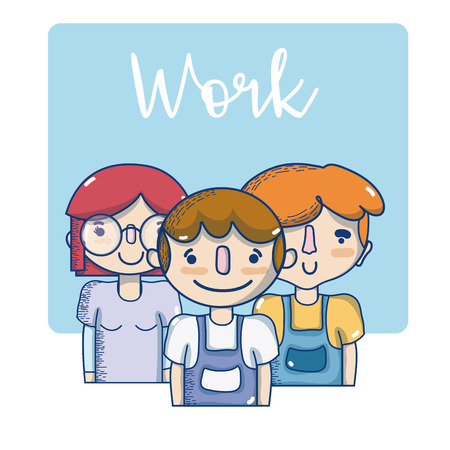 People and work occupations cute cartoons vector illustration graphic design 向量圖像