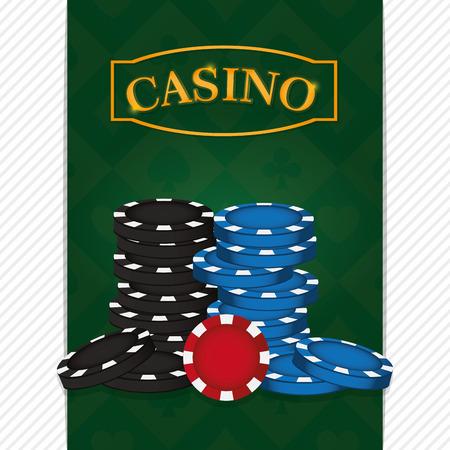 Casino chips on deck vector illustration graphic design