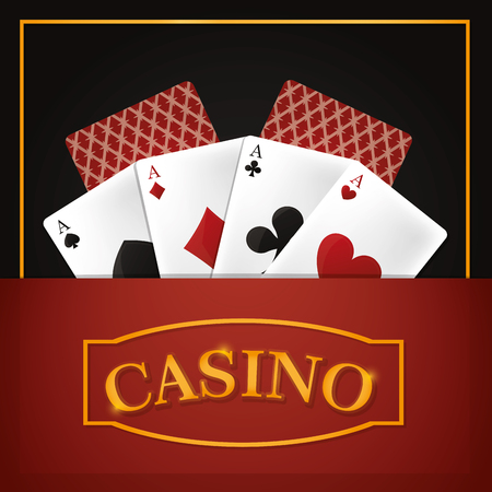 Poker game concept vector illustration graphic design Illustration
