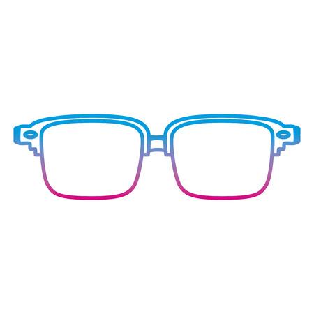 degraded line frame glasses optical object style Stock Photo