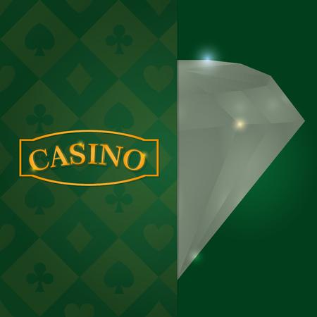 Casino luxury diamond concept vector illustration graphic design