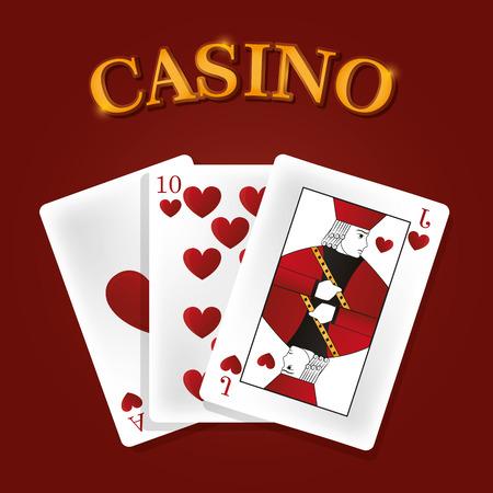 Casino game leisure cards vector illustration graphic design Illustration