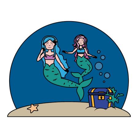 color pretty sirens women under sea