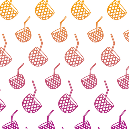 degraded line delicious pineapple smoothie fruit background Stock Photo