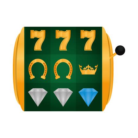 slot machine lucky casino game vector illustration Illustration