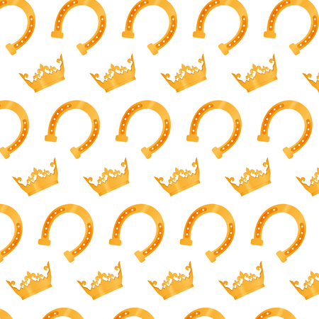 metal horse and luxury crown background vector illustration