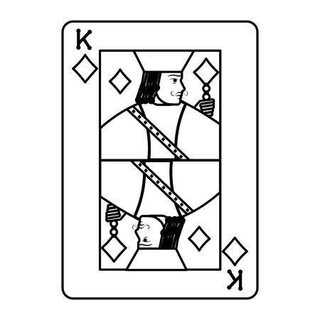 line king diamond casino card game vector illustration Standard-Bild - 105880753