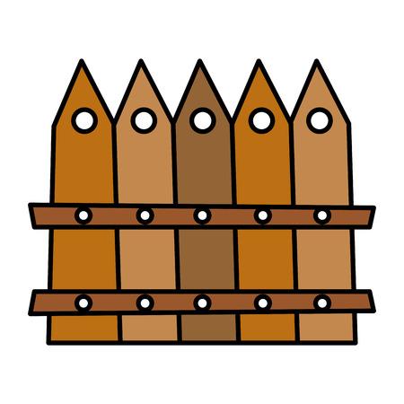 color wood grillage yard texture style vector illustration Ilustração