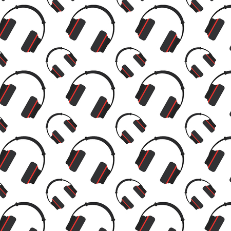 music headphone object technology background vector illustration