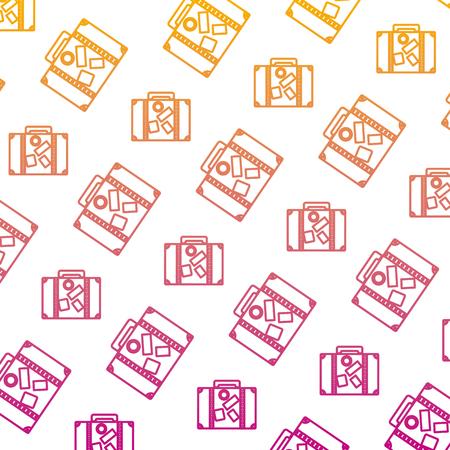 degraded line travel backpack journey tourist background vector illustration Illustration