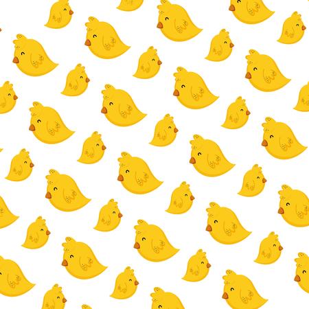 cute chick farm animal background vector illustration