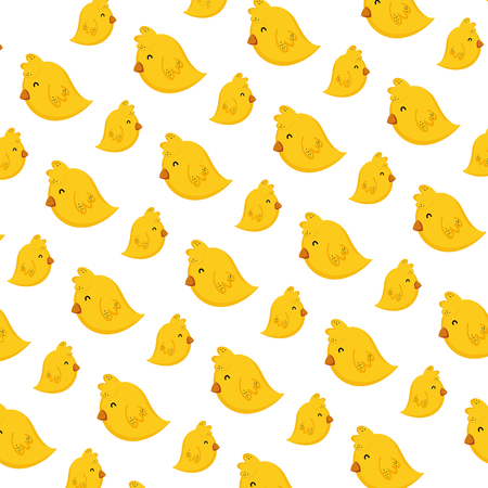 cute chick farm animal background vector illustration