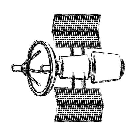 grunge satellite technology space global communication vector illustration Vectores