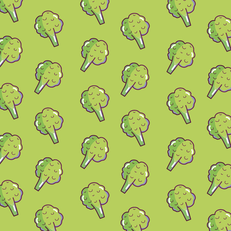 Brocolis vegetables pattern background vector illustration graphic design