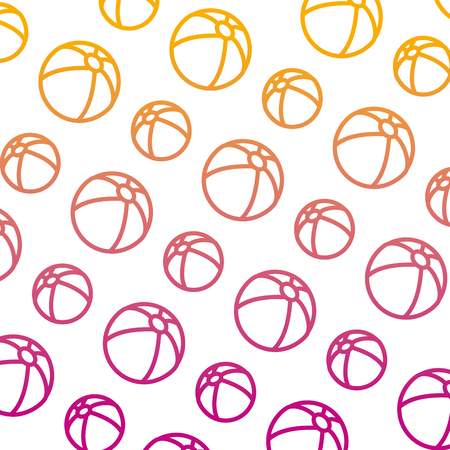 degraded line beach ball inflatable toy background vector illustration