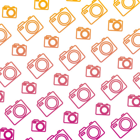 degraded line digital camera equipment object background vector illustration Illustration