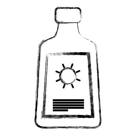 grunge sun cream protection skin lotion vector illustration Illustration
