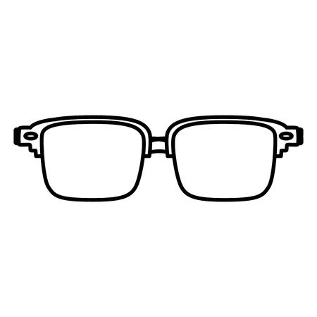 line frame glasses optical object style vector illustration Stock Illustratie