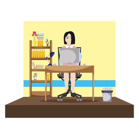 professional businesswoman success and file cabinet Archivio Fotografico - 105633894