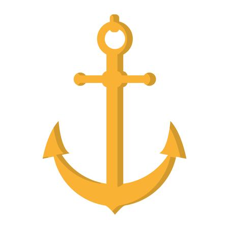 nautical anchor object ship symbol vector illustration 向量圖像